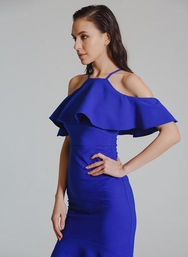 People By Fabrika Volanlı Abiye Elbise Saks